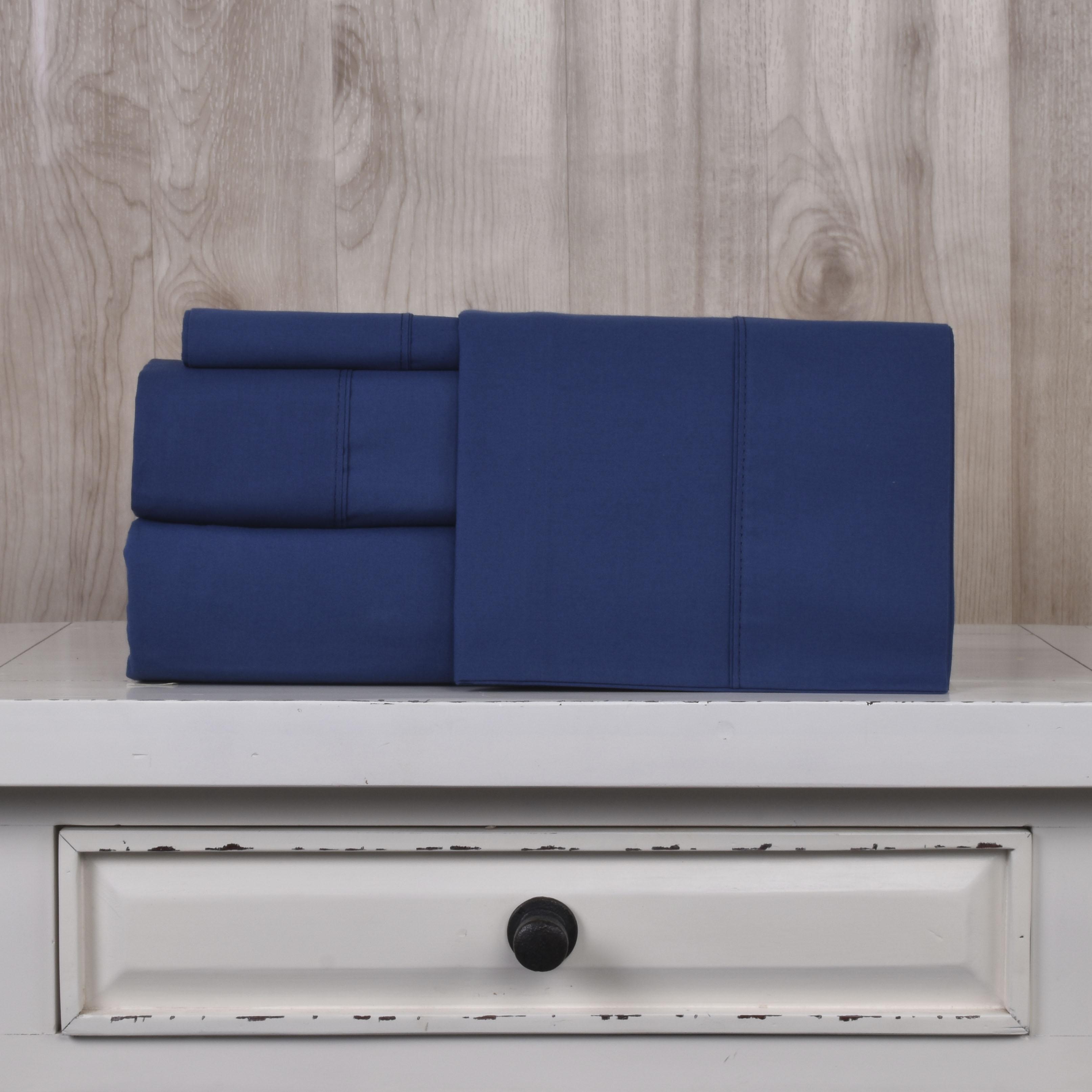 Juego de Sábanas 200 hilos Basic Colores - Basic Colores / Azul (Altura del Colchón: 30 cm)