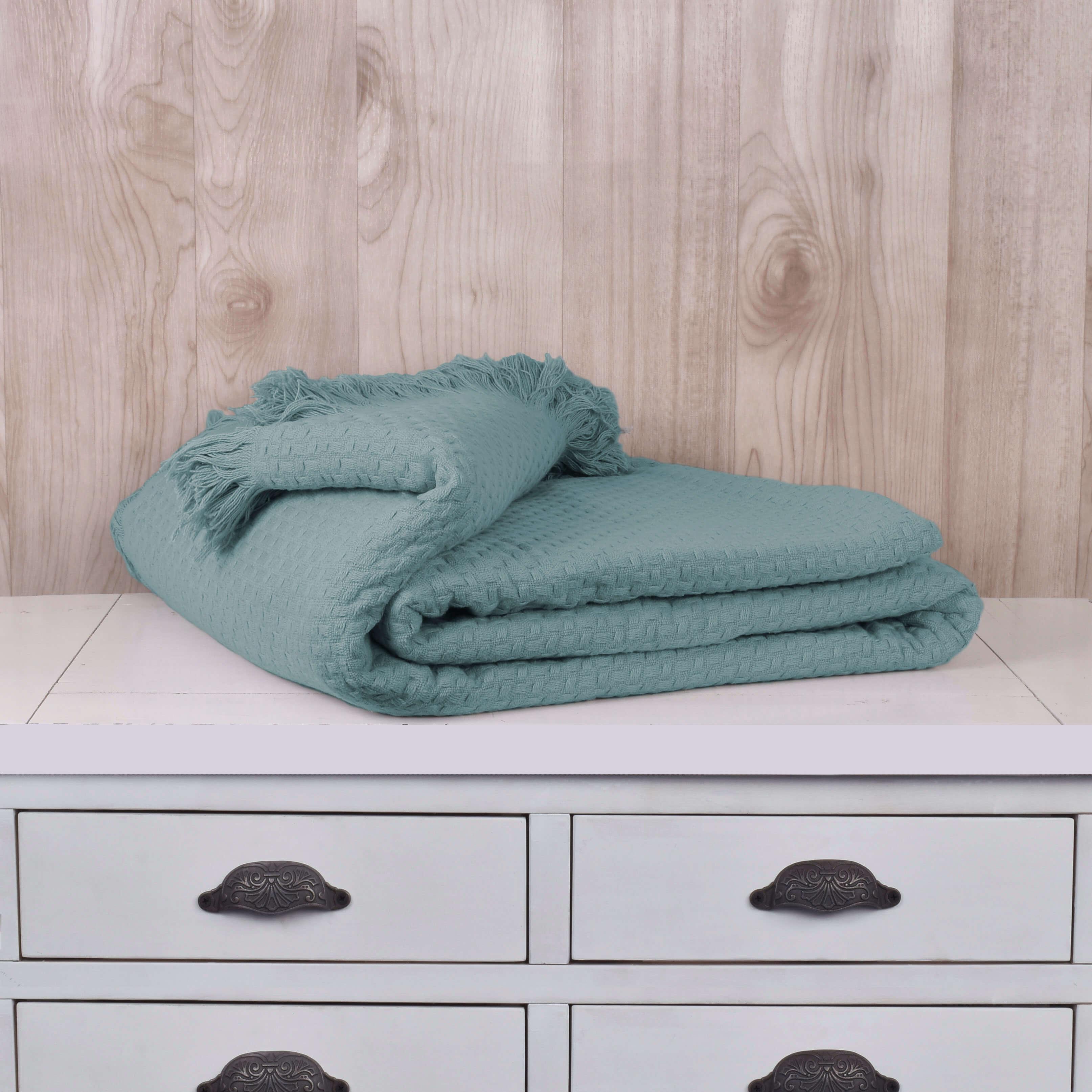 Mantas Cotton / Azul