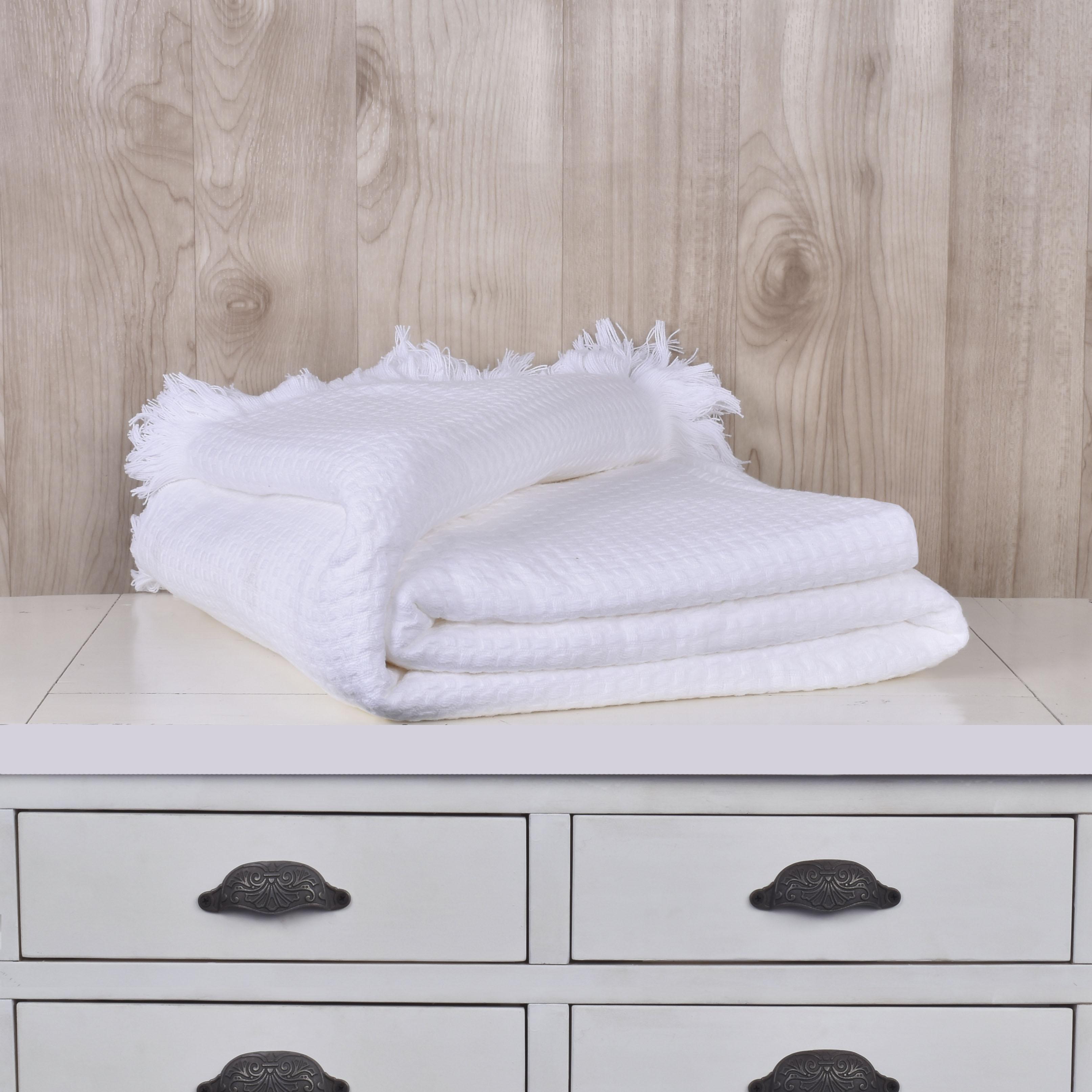 Mantas Cotton / Blanco