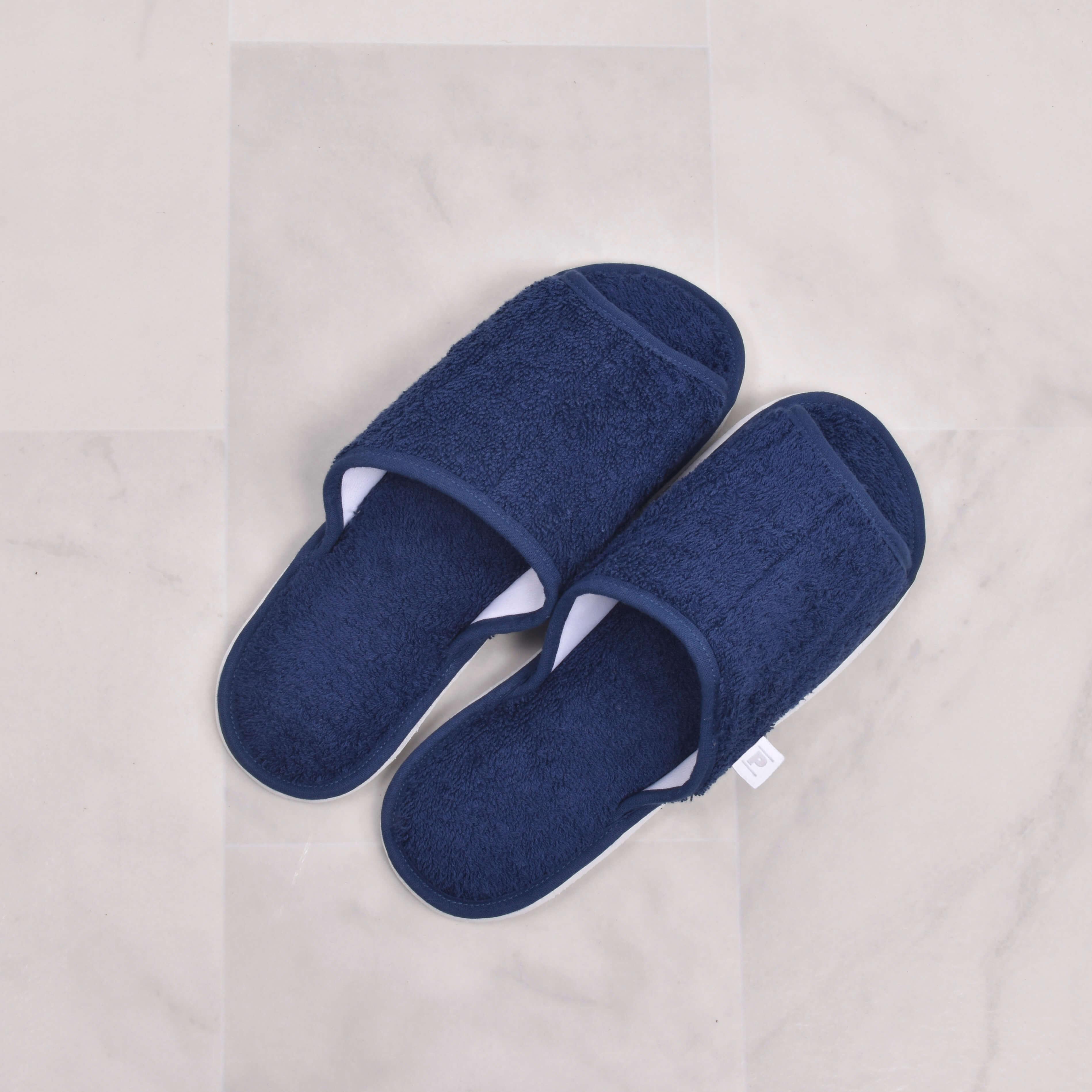 Zapatillas de Cama de Toalla Azul