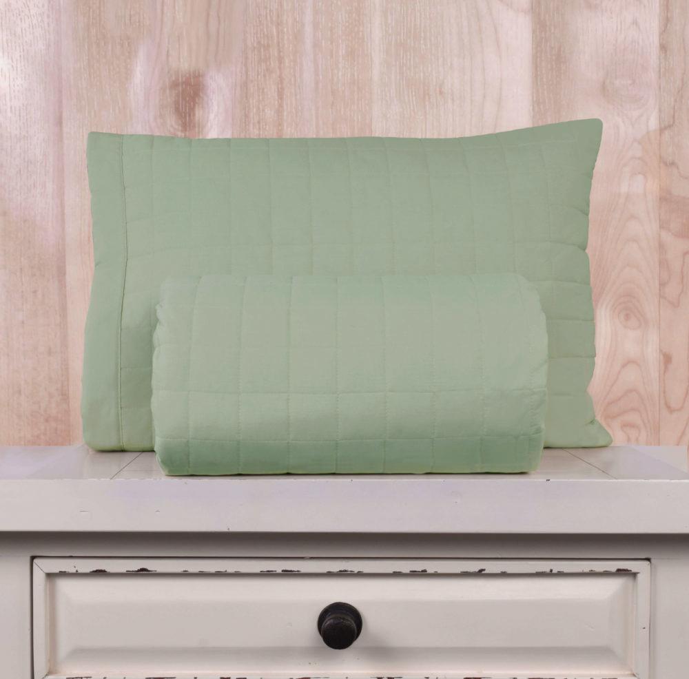 Cubrecama Matelaseado 200 Hilos Basic Colores - Basic Colores / Verde