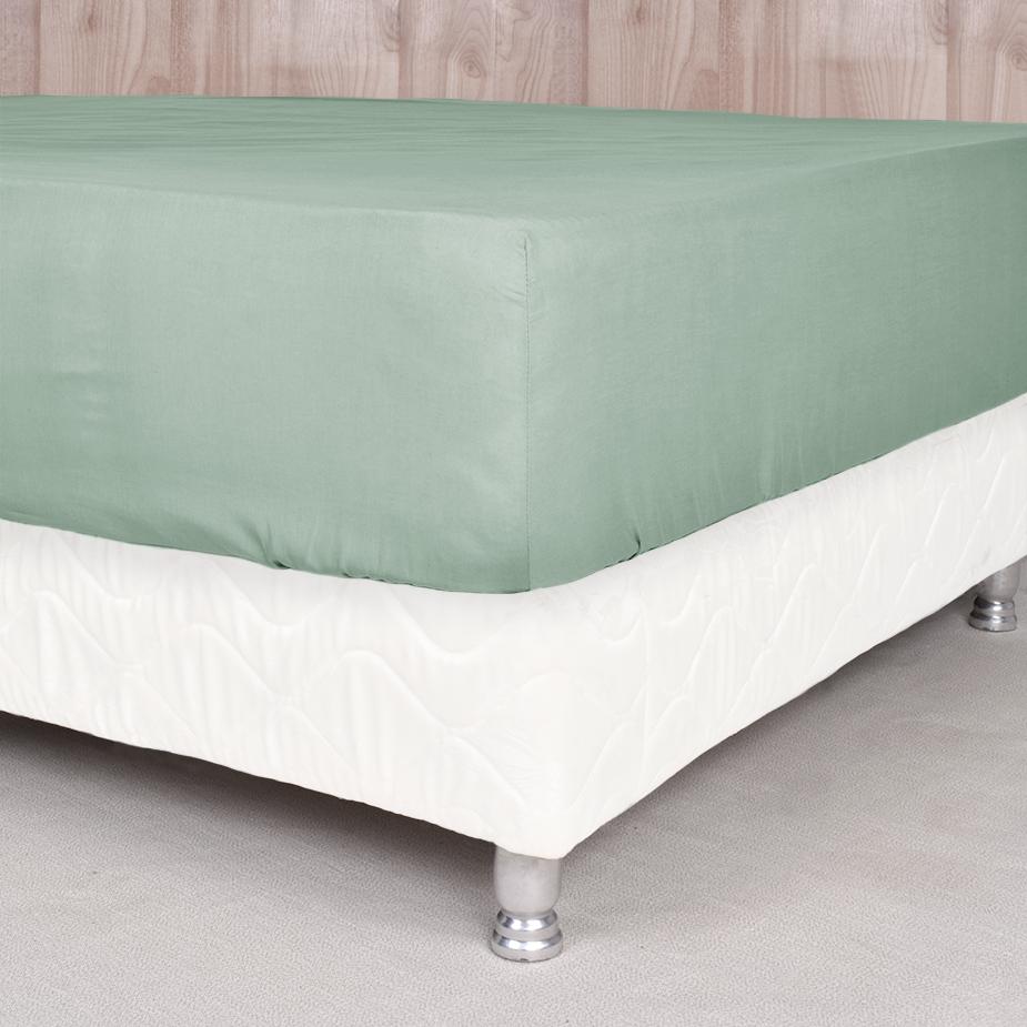 Sábanas ajustables 200 hilos Basic Colores - Basic Colores / Verde (Altura del Colchón: 30 cm)