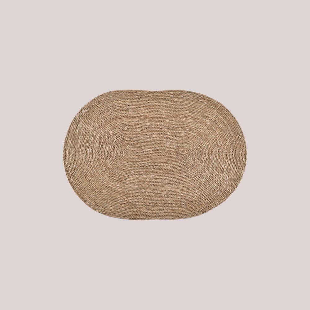 Alfombra fibra natural/ovalada